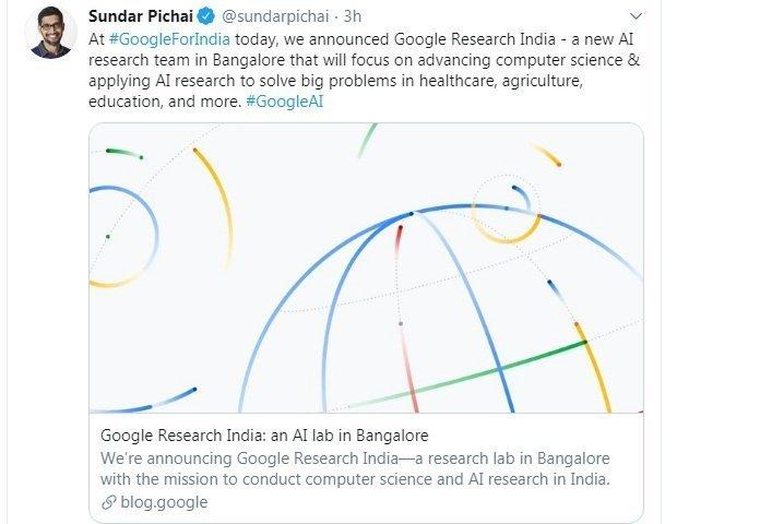 Google AI Lab Bangalore India