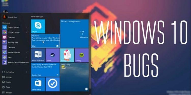Microsoft Windows 10 Bug