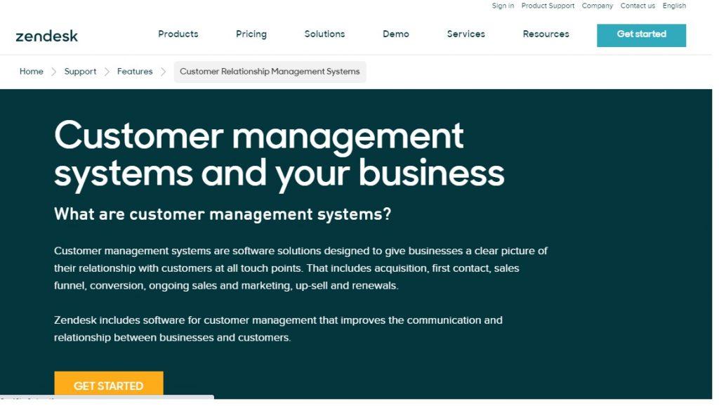 CRM software 2020 zendesk